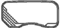 Fibreglass Pool Shape Riviera Outline Model 7.0